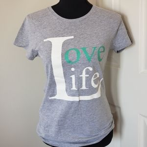 "Alstyle. ""Love Life"" Screenprint Slim Fit Tshirt"
